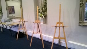 Art Show Partitioning easel with mast, Treacey Centre, Parkville