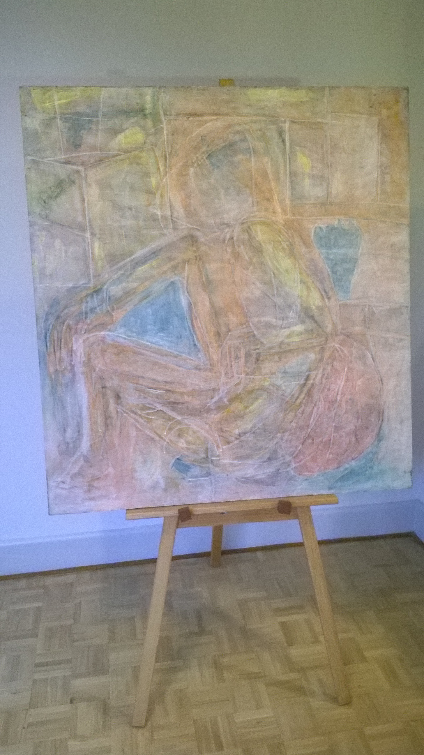 Art Show Partitioning easel with painting 1050x1050