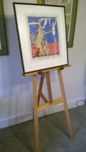 Art Show Partitioning Model3 easel with image 580mm wide and 650mm tall.