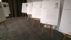 Art Show Partitioning Prado display easels at Zinc, Federation Square