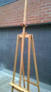 Art Show Partitioning tall double sided easel with extra height mast